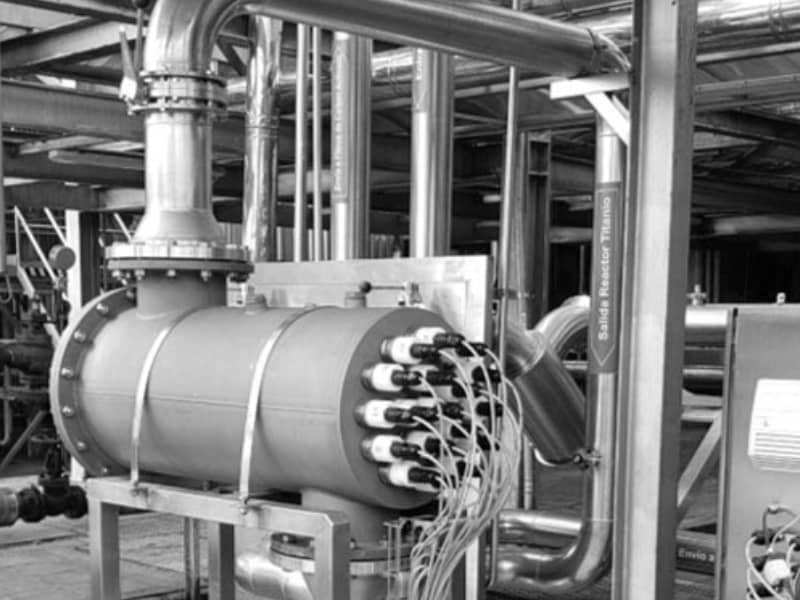 Reactor fábrica de cerveza