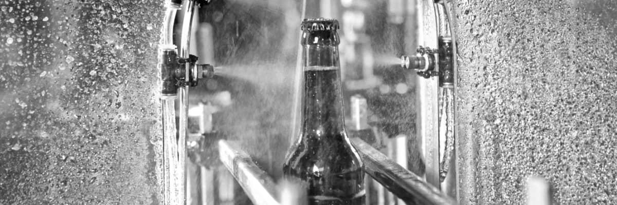 Reactores en fábrica de cerveza